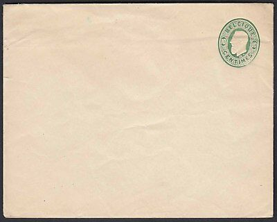 Belgium 1879 10 cents green postal stationery letter unused  (22799
