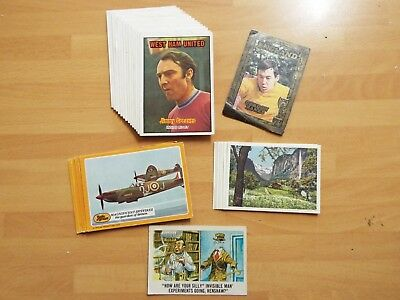 Old Job Lot Football Battle of Britain Gum Cards A&BC  Swiss Cheese World Cup