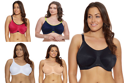 Elomi Energise Sports Bras Underwired Full Cup 8041 J Hook Supportive Various
