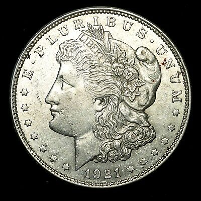 1921 D ~**ABOUT UNCIRCULATED AU**~ Silver Morgan Dollar Rare US Old Coin! #50