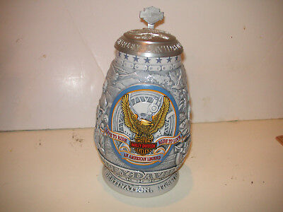 harley davidson collector stein with Lid Motorcycle