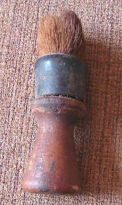 Vtg Shaving Brush Ever Ready Wood with Rubber Sterilized Made in USA