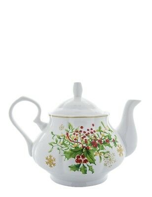 The Victorian Trading Co Holly & Ivy Christmas Teapot Tea