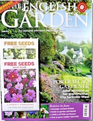 THE ENGLISH GARDEN MAGAZINE BUMPER SUMMER ISSUE JUNE 2018 & 2 x PACKS OF SEEDS