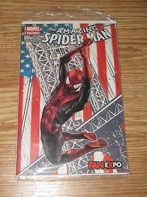 AMAZING SPIDER-MAN #1 Mico Suayan Fan Expo Color VARIANT Marvel Comics NM 2014