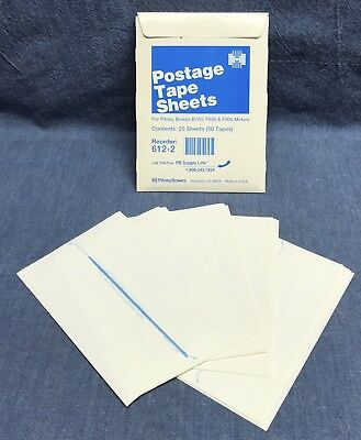 (QTY 25 Sheets) 612-2 Pitney Bowes Postage Tape Sheets B700/F800/F900 Meter