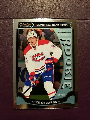 2015-16 OPC Platinum MARQUEE ROOKIE #M39 Mike McCarron Montreal Canadiens