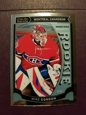 2015-16 OPC Platinum MARQUEE ROOKIE #M32 Mike Condon Montreal Canadiens