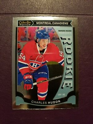 2015-16 OPC Platinum MARQUEE ROOKIE #M46 Charles Hudon Montreal Canadiens