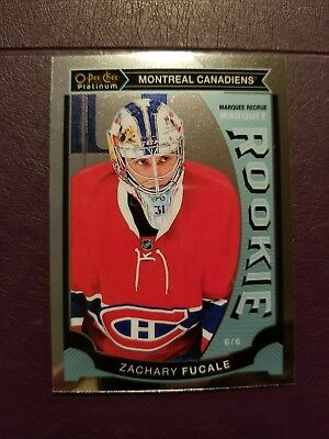 2015-16 OPC Platinum MARQUEE ROOKIE #M37 Zachary Fucale Montreal Canadiens