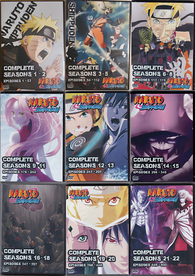 NARUTO SHIPPUDEN EPISODES 1-500 Complete Series on 54 DVDs 22 Complete  Seasons