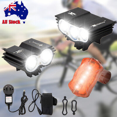 SolarStorm 20000LM X3 X2 U2 LED Head Bicycle Light Bike Front Lamp Taillight Set