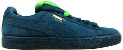 Puma Suede Classic + Mono Iced Blue Coral/Team Gold 360231 01 Men's SZ 10
