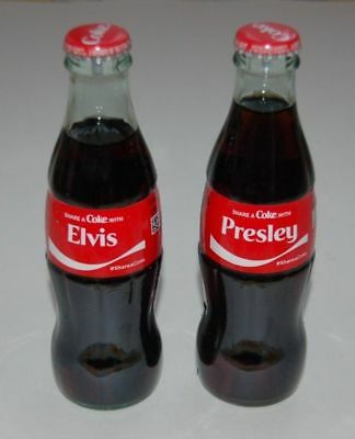 Elvis Presley Coca Cola Full 8 Oz Glass Bottle 2018 Share A Coke