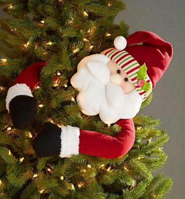 Santa Claus Tree Hugger With Bendable Arms Christmas Crafts Topper NEW