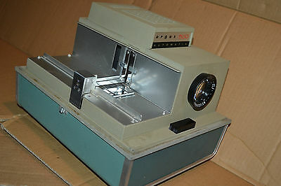 Vtg Portable Argus 500 automatic Baby Blue Mid Century movie film projector