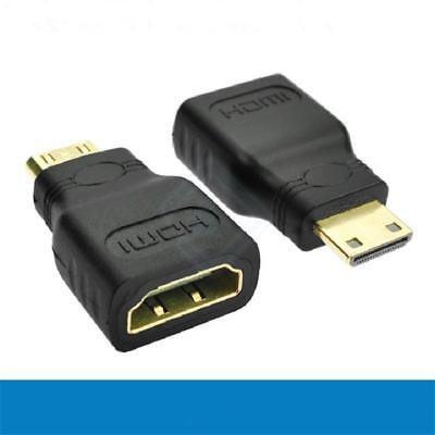 Mini HDMI (Type C) Male to HDMI (Type A) Female Connector Adapter For 1080P HDTV