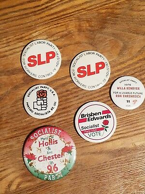 Socialist Labor Party Presidential Campaign Pinback Buttons