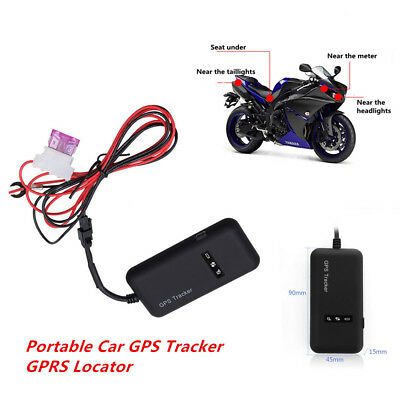 GSM/GPS/GPRS Tracker Motorcycle Auto Tracking Device Finding Anti-theft Locator