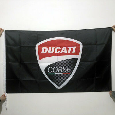 Ducati Corse Banner Flag 3x5Moto GP Poster Motorcycle Sign 848 1098 2Grommet/288