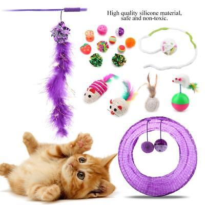 Funny Pet Cat Kitten Toy Mouse Teaser Wand Feather Rod Play Toys Interactive