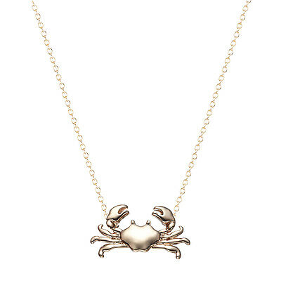 Gold Silver Cute Maryland Crab Necklace Animal Pendant Necklace Women Jewelry