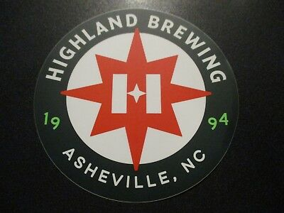 "HIGHLAND BREWING COMPANY green 4.75"" STICKER decal craft beer brewery brewing"