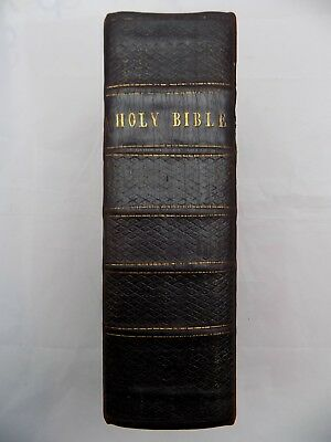 1685 King James Holy Bible, 5 Title Pages,thick 4To,psalter,leather,very Good +