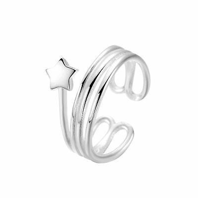 925 Silver Star Band Rings Multi Layer Ring for Women Engagement Brand Jewelry