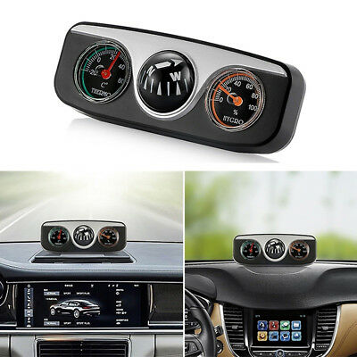 Car Navigation Ball Compass Thermometer Hygrometer Interior Accessories Noted