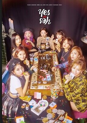 TWICE  YES OR YES  OFFICIAL UNFOLDED POSTER (SELECT A / B ver.)