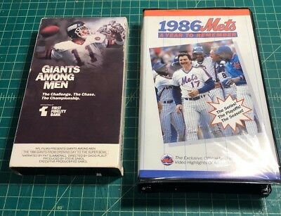Vintage 1986 NY GIANTS(Giants Among Men)METS(A Year To Remember)VHS Tape lot