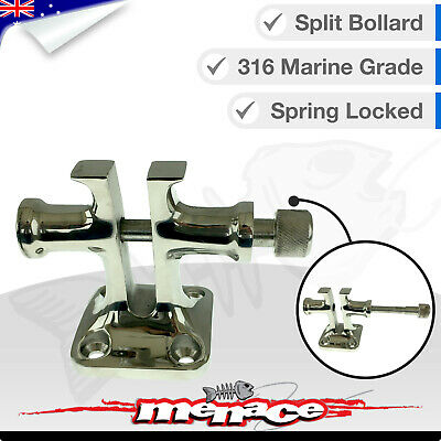 316 Stainless Steel Split Bollards Spring Locked Captive Pin Boat Marine Locking