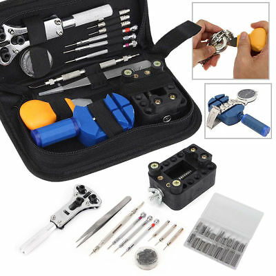 507Pcs Watch Repair Tool Kit Watchmaker Back Case Remover Opener Pin Spring Bar