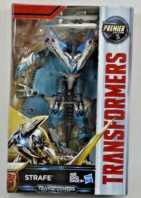 NEW Transformers The Last Knight Premier Edition Deluxe STRAFE Action Figure