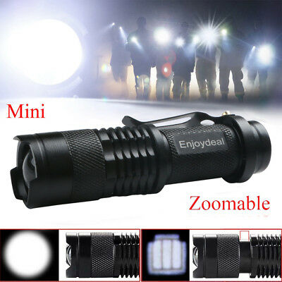 Ultra Bright Mini Led Flashlight Zoomable Waterproof Pocket Torch Focus Light
