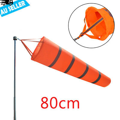 "80cm 30"" Aviation Windsock Rip-stop Wind Measurement Sock Bag + Reflective Belt"