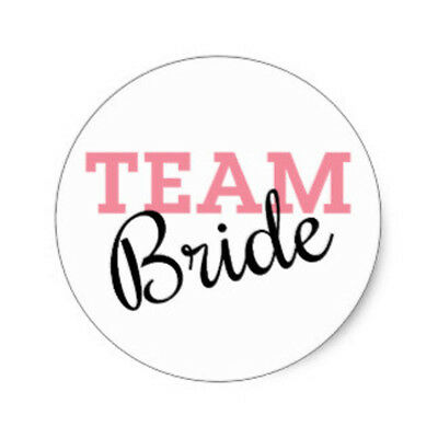 SET OF 6 X PERSONALISED 89 x120.7MM TEAM BRIDE WINE BOTTLE LABELS