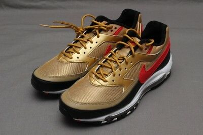 Nike Air Max 97/bw Metallic Gold/university Red Ao2406-700
