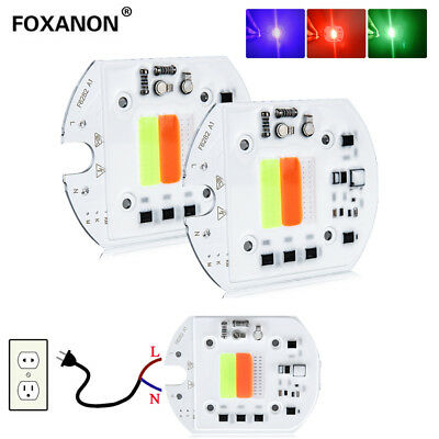 High Power Floodlight RGB LED 50W DIY COB LED Chip Lens Reflector 110V 22V