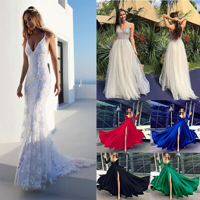 Sexy Women Chiffon Cocktail Long Bridesmaid Evening Party Ball Formal Gown Dress