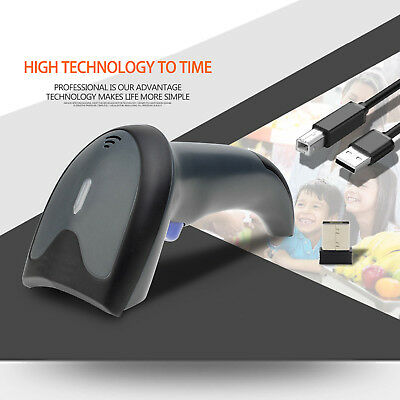 [High Accuracy] Barcode Scanner Wireless Fast 1D 2D Integrated Barcode Reader US