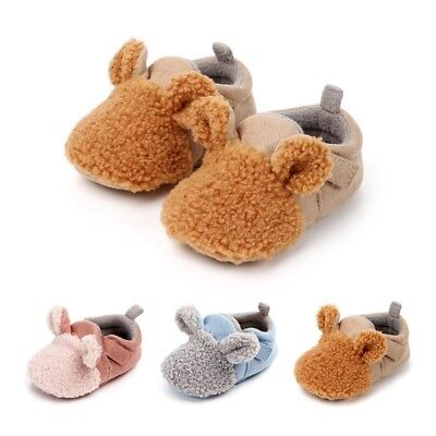 Cute Toddler Baby Winter Warm Shoes Boy Girl Soft Thicken Slipper Prewalker HOT