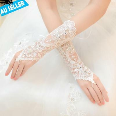 Party Wedding Bride Lace Gloves Bridal Dress Luxury Long Fingerless Accessories