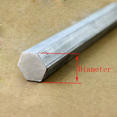 Select Diameter 28mm - 50mm 6061 Aluminum Hex Rod Solid Bar Stock L:50-600mm