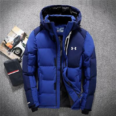 Under Armour Men's Winter Warm Thick Duck Down Jacket Snow Hooded Coat New Hot
