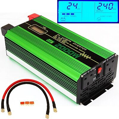 2000W/4000W(Surge) DC24V INTELLIGENT PURE SINE WAVE POWER INVERTER LCD DISPLAY