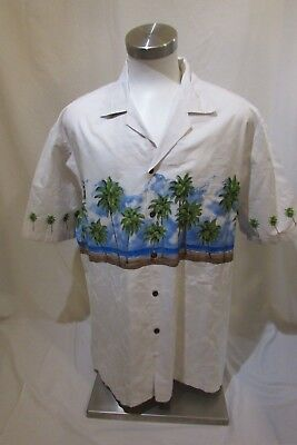 Pacific Legend 2XL Men's Hawaiian Shirt Palm Trees, Beach ,Ocean.
