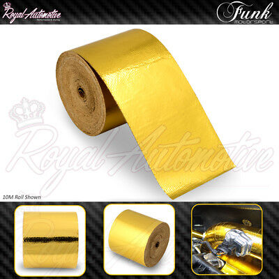 10Mx5CM Gold Roll Adhesive Reflective High Heat Shield Wrap Tape Funk Motorsport