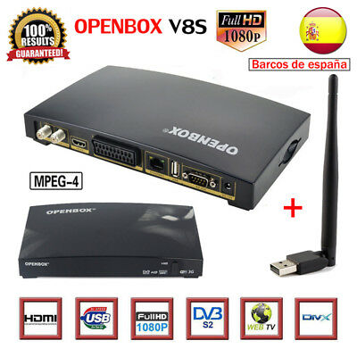 OPENBOX V8S Satellite TV Receiver +USB Antenna Full HD 1080P PVR Support Bisskey